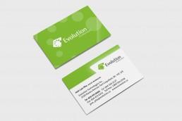 Evolution technologies business card